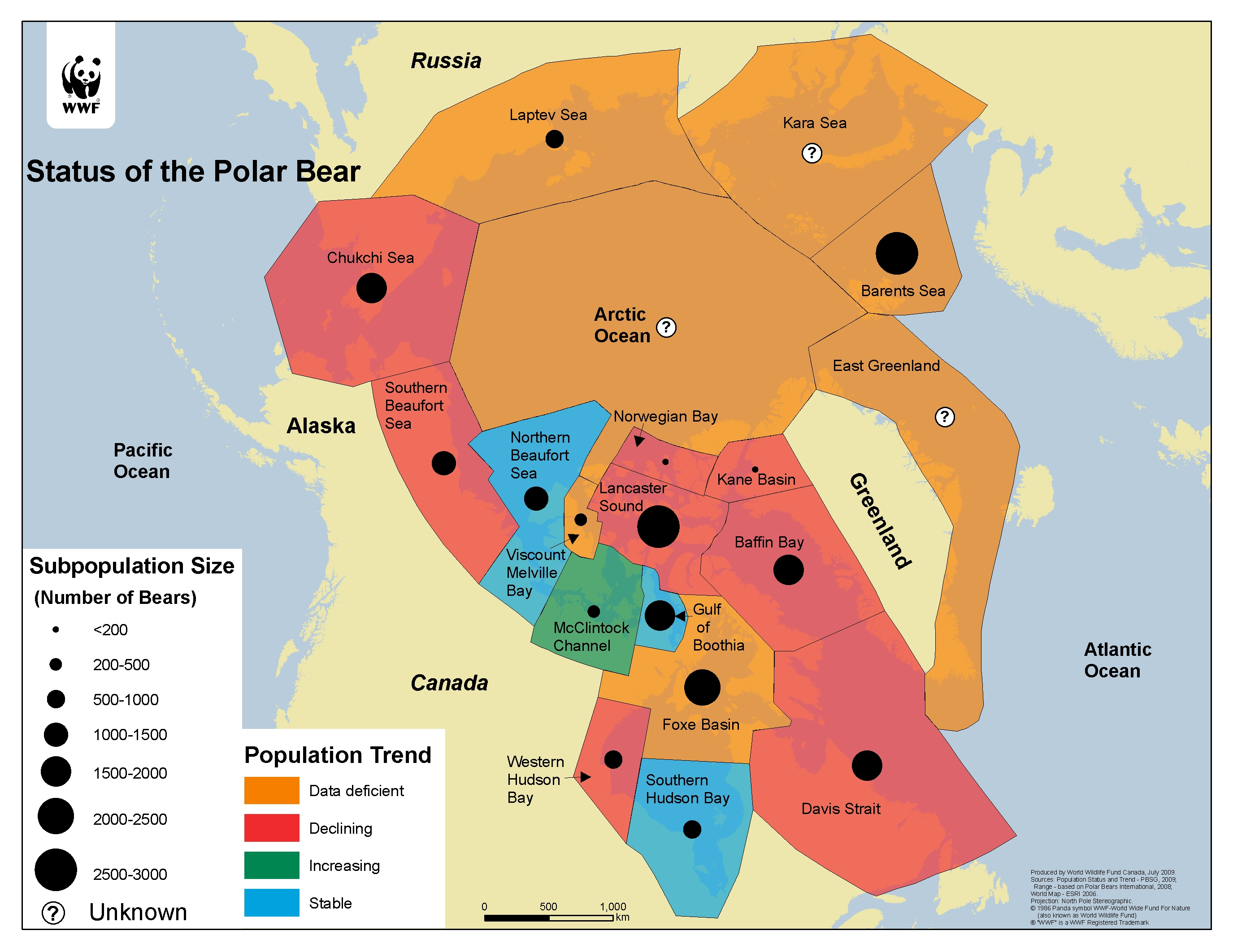 What Will Be The WWF Polar Bear Population Estimate On Dec - Map of where polar bears live